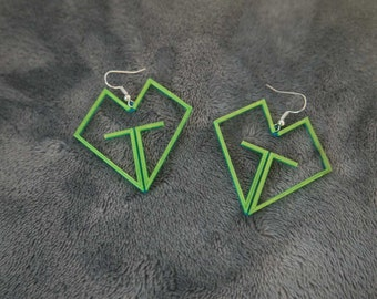Girls Generation [SNSD] Logo Earrings - 3D Printed -  Blue and Yellow PLA