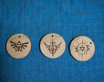 Wood Burnt Zelda Ornaments or Keychain