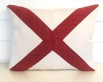 Alabama State Flag Pillow Cover