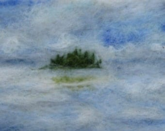 Original Needle Felted Artwork - 'Oulu'