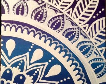 Aztec ombré canvas