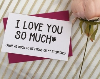 I love you so much - valentines card