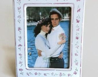 Vintage Picture Frames-White-Vintage Picture-Floral