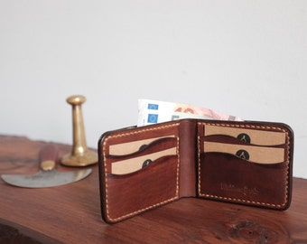 Mens Leather Bifold Wallet, Classic Bifold Wallet, Personalized Leather Wallet, Wallet for Men