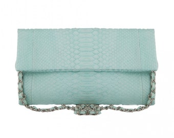 Bag in Python green with water Medium