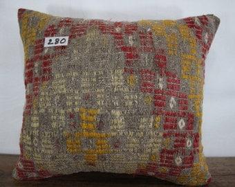 Vintage Kilim Pillow 16x18 Turkish Kilim Pillow,Kilim Cushion Cover,Striped Pillow Sofa Pillow,Bohemian Pillow Decorative Pillow SP4040-280