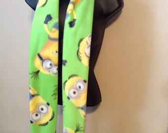 Minion Lime Handmade fleece scarf
