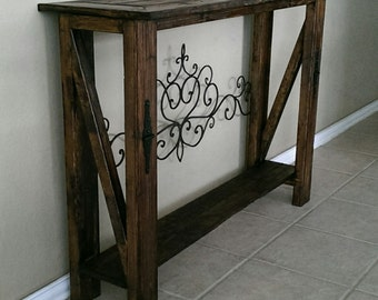 Handmade Entry or Sofa Table