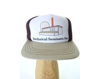 True Vintage Technical Seminars Inc Mesh Snapback Trucker Hat Cap
