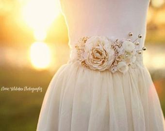 Floral Bridal Sash