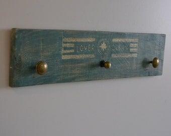 Coat rack handmade on wood Ref: 006