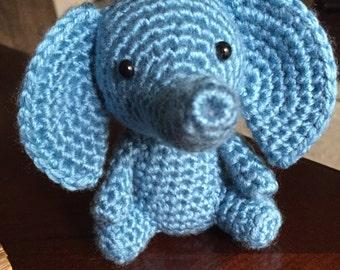 Amigurumi Elephant, Crochet Elephant, Stuffed Animal, Handmade Plushie