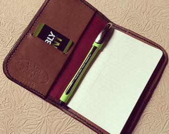 Oiled Leather Notebook Cover (made to order)