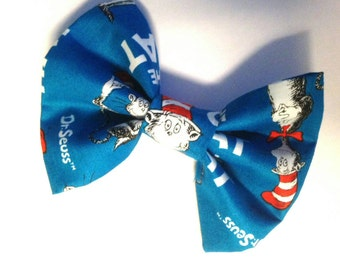 Dr Seuss Cat in the Hat bow