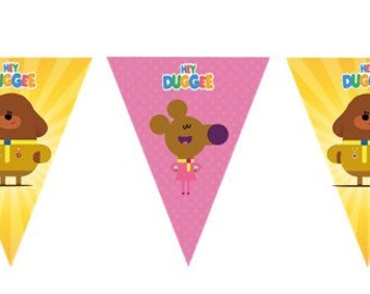 Hey Duggee Banner. Party Supplies Hanging Decorations Bunting Flags