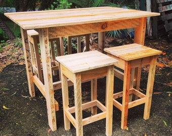 Bar Table & Four Stools - Shipping NOT Included