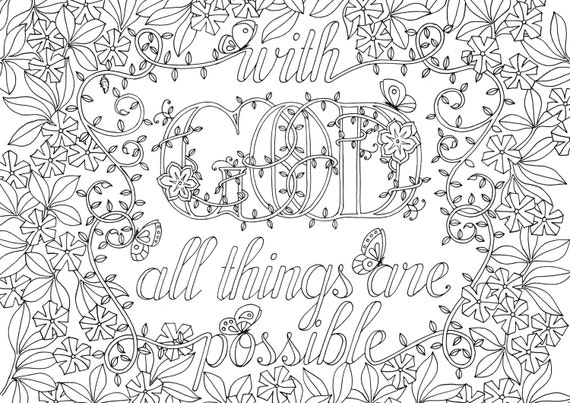 adult colouring page bible verse matthew 1928 instant colouring in download