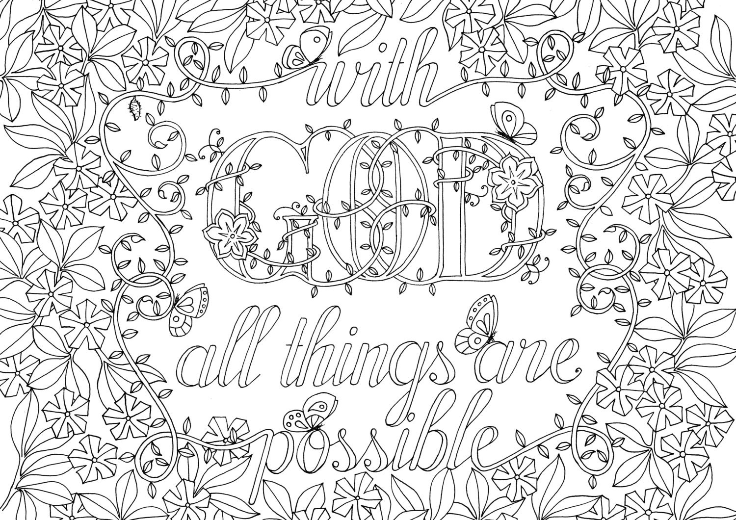 Adult Colouring Page   Bible Verse - Matthew 19:28 ...