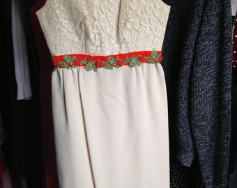 Vintage White Poly Dress