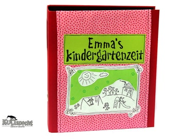 Red folder child, folders for nursery school, children-folders, school-portfolio, album cover child drawing, enrollment gift, design-folder