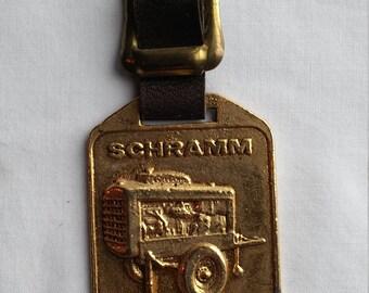 Vintage SCHRAMM Air Compressor Engines Advertising Watch FOB