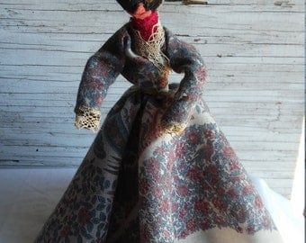 """Vintage Hand Made Rope Doll. Stands 11"""". Nicely made."""