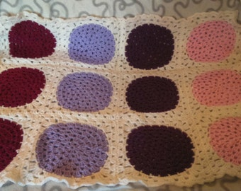 Pink and purple blanket