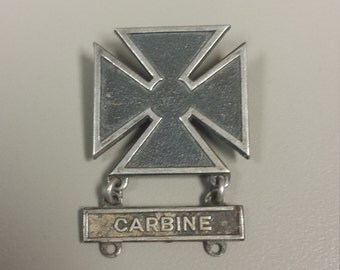 Vintage Sterling Silver .925 Military Medal