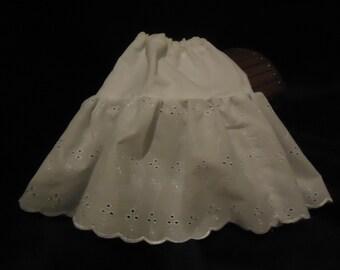 Eyelet petticoat