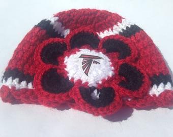 Football Beanie, Crochet football hat, Football team colors, baby football hat, (choose team, choose size)