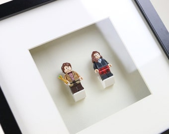 Doctor Who, The Eleventh Doctor & Clara Oswald, Matt Smith and Jenna Coleman LEGO Minifigure Frame