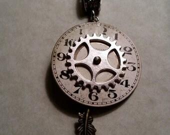Time Flies Clockwork Pendant
