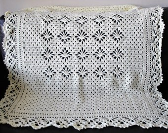 Crocheted Lacy Treasure Baby Blanket