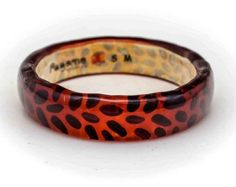 RESIN BANGLE RED #2408