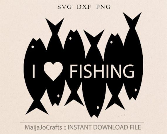Fishing Svg Cut File Silhouette Svg Cricut Downloads Fish Svg