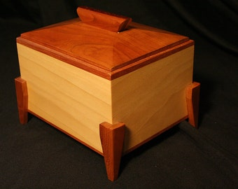 Lidded Box - Cherry and Poplar