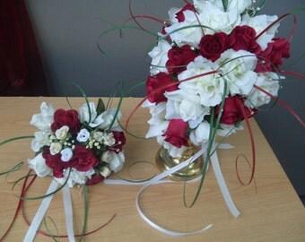 TEARDROP   Silk flower,  MED.  Bouquet  SET.