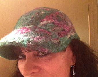 Woodlands felted ball cap