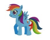 Rainbow Dash Little Pony Embroidery Pattern | Little Pony Embroidery Design | Children Embroidery|Little Pony Machine Embroidery