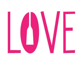 Paddle Love Decal Pink