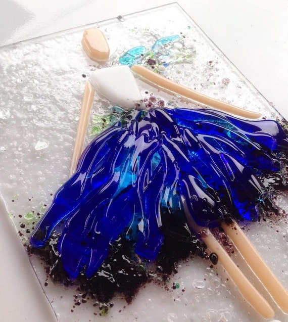 Fused Glass Wall Art: Fused Glass Wall Art Ballerina Fused Glass Pucture Gift For