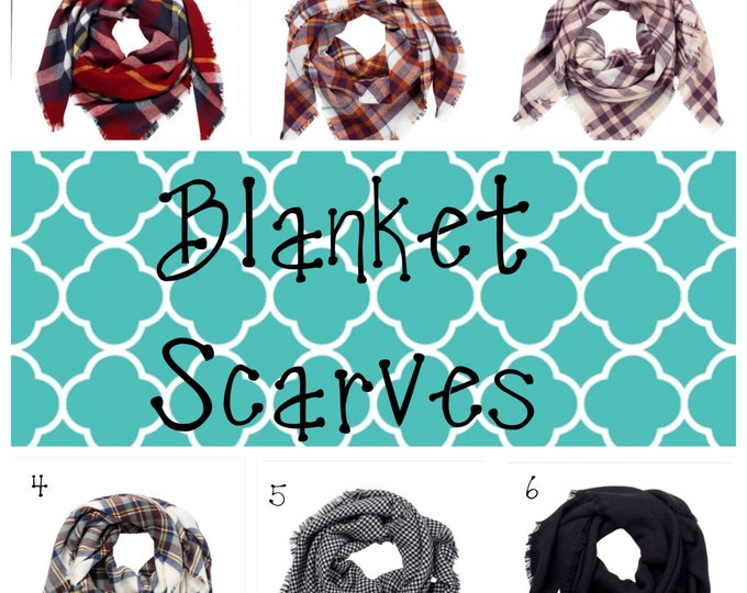SALE- Personalized /  Monogrammed Blanket Scarf