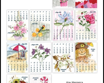Hand painted calendar