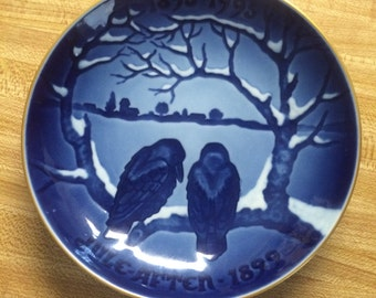 "Bing & Grondahl-Xmas Plates The Centennial Collection '91 ""The Crows"""