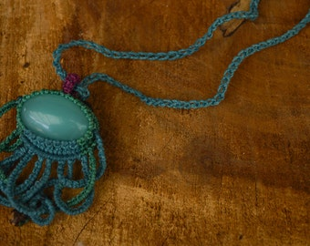 Octopus Macrame necklace