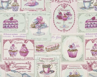 Patisserie Totebag, pillowcase or fabric