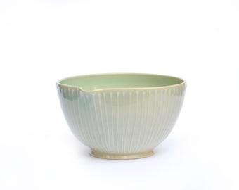 Striped Ceramic Mixing bowl