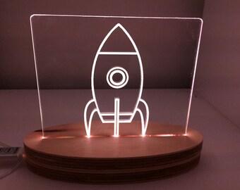 Rocket Ship Night Light