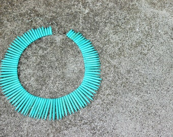 Full Turquoise Spikes Necklace