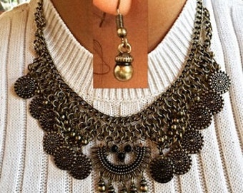 Boho Chic Statement Necklace Set